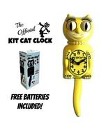 """MAJESTIC YELLOW LADY Kit Cat CLOCK 15.5"""" Free Battery USA MADE Kit-Cat K... - £52.00 GBP"""