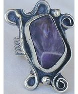 Purple glass pressed ring SR56 - $45.00
