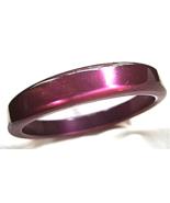 Vintage Lucite Purple  Bracelet Aubergine Moong... - $10.00
