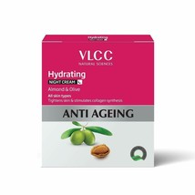 VLCC Anti-Ageing Hydrating Night Cream With Almond & Olive, 50gm (Pack of 1) - $15.67