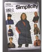 SIMPLICITY 7839 - Poncho, Hats, Scarf, Headband... - $4.00
