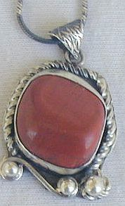 Blood stone hand made pendant hmp7