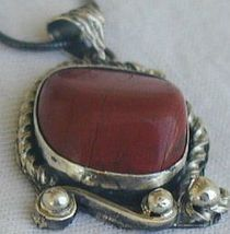 Blood stone hand made pendant hmp7 1 thumb200