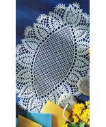 5X Pineapple Paris & Planting Daisy Almond Shape Mandorla Crochet Doily ... - $9.99