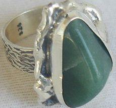 Green glass hand made ring sr46 2 thumb200