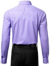 Berlioni Italy Men's Slim-Fit Premium French Convertible Cuff Solid Dress Shirt image 12
