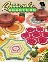 Casserole Coasters Annie's Attic 7 Unique Crocheted Trivets or Coasters NEW - $9.95