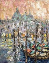 Venice Italy Gondola Canal Art Oil Painting On Canvas Original Signed Wa... - $99.00