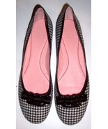 COLE HANN HOUNDSTOOTH PRINT BALLET FLATS SHOES 10M - $76.31
