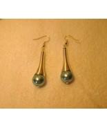 EARRINGS TIBETAN SILVER BLUE PEARL DANGLE #878 - $9.99