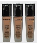 3pc Lot LANCOME 510 Suede C Teint Idole Ultra 24H Foundation Divine Perf... - $61.65