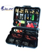 128 pcs/boxes Fishing Accessories Hook Swivel Weight Storage Case Tackle... - $19.75