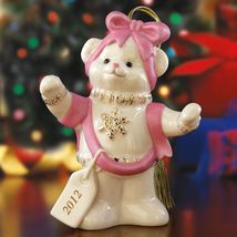 Lenox Ribbon Wrapped Teddy Ornament 2012 - $39.00