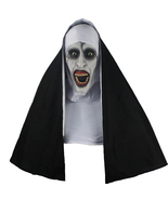 The Nun Full Head Cosplay Horror Movie Mask Valak Conjuring Scary Halloween - $31.99