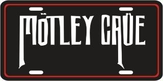 MOTLEY CRUE METAL LICENSE PLATE MUSIC TAG