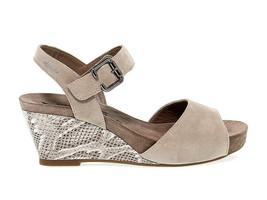 Sandalo con tacco MEPHISTO BEAUTY in camoscio sabbia - Scarpe Donna - $159.89