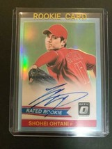 MLB card Shohei Otani autograph card 2018 PANINI Donruss Optic - $510.84
