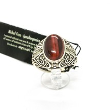 Silver Ring 925 with Tiger's Eye and Marcasite Made in Italy by Maschia image 2