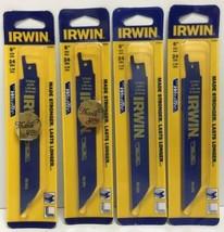 """(New) IRWIN 372624  6"""" 24TPI Reciprocating Saw Blades BI-Metal  Lot of 4 - $19.79"""