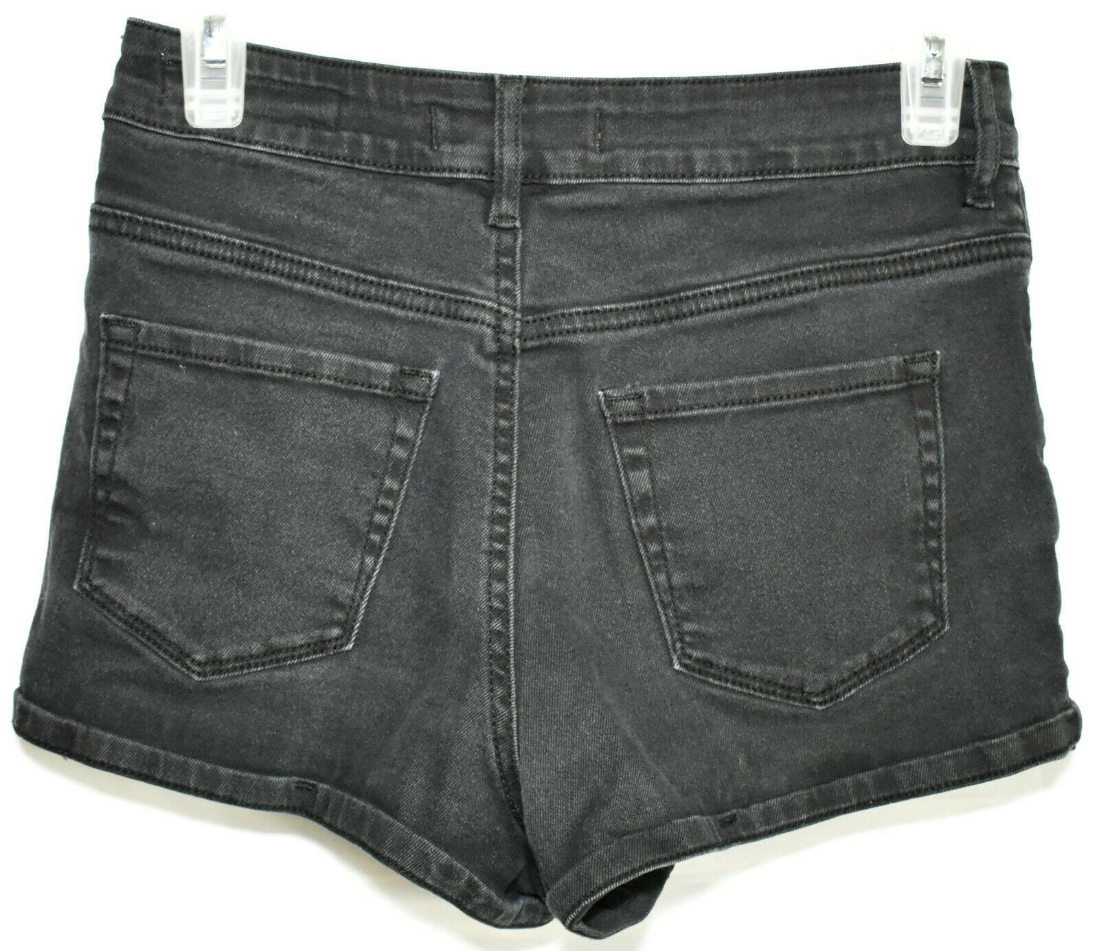 Bullhead Denim Black Super Hi-Rise Shorty Shorts Size 5