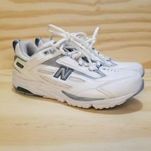 NEW BALANCE Women's Walking Shoe Size 7 White Blue (New) Laces Sneakers ... - $26.73