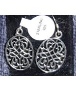 Sterling Silver Filigree Cut Earrings   - $24.99