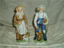Homco Old Farm Couple Figures Home Interiors 1409 - $19.99