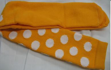 YELLOW with WHITE DOTS CLOWN SOCKS OVER KNEE SPORTS STYLE
