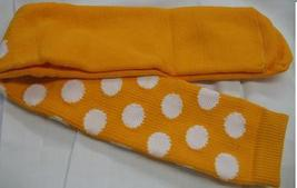 YELLOW with WHITE DOTS CLOWN SOCKS OVER KNEE SPORTS STYLE - $12.00
