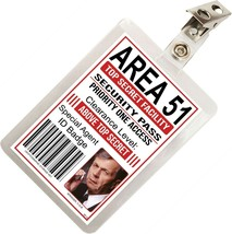 Cigarette Smoking Man XFiles Area 51 ID Badge Costume Cosplay Prop Name ... - £7.72 GBP