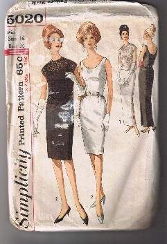 Vintage SIMPLICITY 5020 - Misses' Cocktail Formal Dress - Size 16 - UNCUT  Bonanza