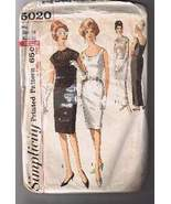 Vintage SIMPLICITY 5020 - Misses' Cocktail Form... - $6.00
