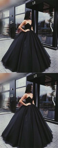 sexy black sweetheart prom dress prom gowns sleeveless evening dress,HH005