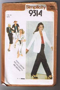 Simplicity 9314 - Misses' Skirt, Pants, & Unlined Shirt-Jacket - Size 10 - UNCUT Simplicity