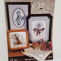 Love is a Song Cross Stitch Leaflet Stoney Creek 1989 Guitar Grand Piano... - $15.99
