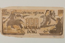 1951 Nord Vietnamien 100 Dong Note Communiste Vietnam Pick#35 - $49.50
