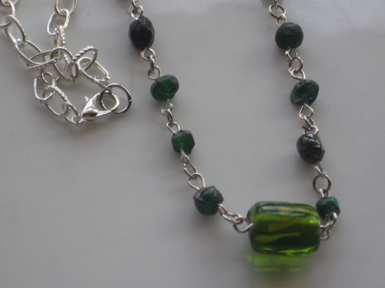 handmade glass beaded necklace #4