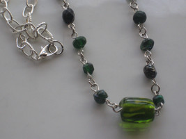 handmade glass beaded necklace #4 - $7.92