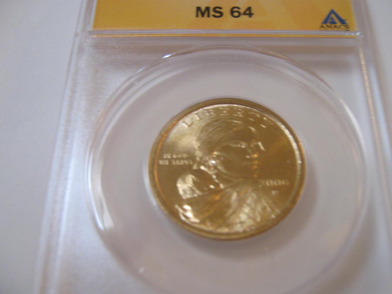 2000-P , Sacagawea Dollar , ANACS , MS64