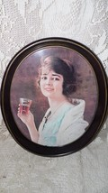 VINTAGE 1973 COCA COLA GIRL METAL SERVING TRAY FROM 1923 ADVERTISEMENT USA - $24.70