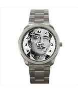 Watch salvador dali mustash gallerist gallery male wristwatch stainless ... - $21.00