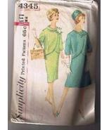 Vintage 1960's - SIMPLICITY 4345 Misses' Suit -... - $7.00
