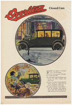 1917 WILLYS-OVERLAND Light Six Touring Sedan Print Ad Luxurious Comfort - $9.99