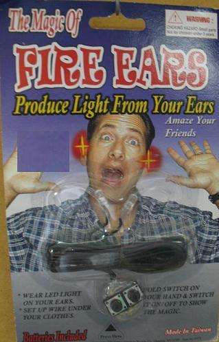 EARS LIGHT UP FIRE REMOTE OPERATED