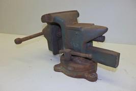 "Antique Vintage Littlestown No. 140 Swivel Bench Vise 4"" HDWE & FDRY Co.... - $49.99"