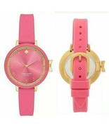 $150 NIB NWT Kate Spade New York  Park Row Pink Silicone Strap Watch KSW... - $74.24