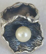 White pearl ring Hand made SR154 - $32.00