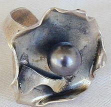 Black pearl ring S52 - $26.00