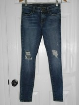 $228 J Brand - 620 Mid-Rise Super Skinny in Dark Erosion (Destroyed) - Size 26 image 2