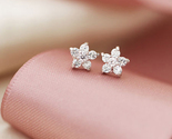 Earring bridal sakura flower crystal studs small thumb155 crop